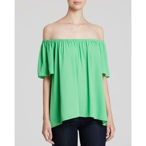 Vince Camuto Off-The Shoulder Green Top XS